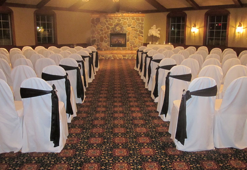 Adirondack Room Indoor Ceremony