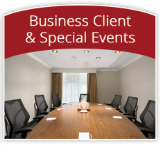 premier venue for business clients and special events with 9 versatile rooms