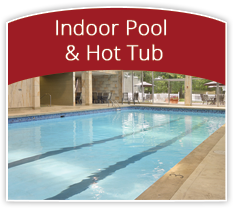 relax in the indoor pool & soak away your stress in the hot tub